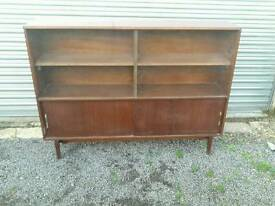 Dark wood glazed bookcase