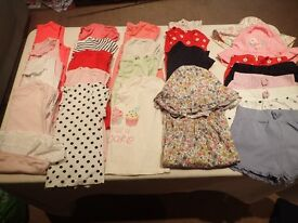Large selection of girls clothing 12-18 months