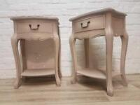 Queen Anne Style Bedside Cabinets (DELIVERY AVAILABLE)