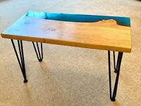 Beautiful Handmade Oak and Resin Coffee Table