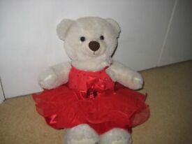 white build a bear+ 2 tops, 2 dresses and 1 pair of shoes