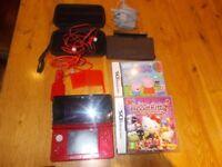 Nintendo 3DS bundle in red including games