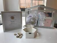 Wedding card box and message frame
