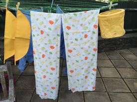 Childrens Nursery Curtains - Baby Giraffe plus matching Lamp Shade & Tiebacks