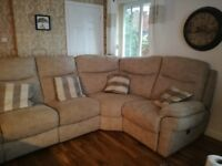 Corner Sofa double electric recliner excellent condition