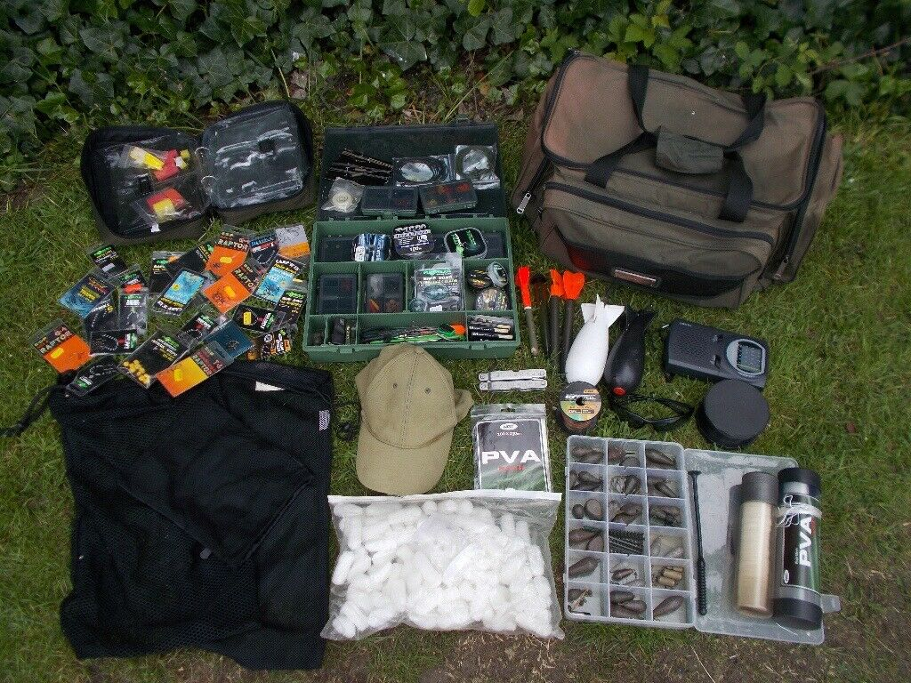 tackle bag full of kit full carp set up for sale | in Hall ...
