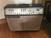 Sound City Concord Valve Tube Amplifer Amp 1970s 2x12 combo 30w