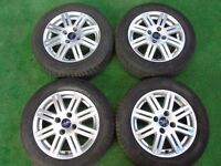"FORD FOCUS, FIESTA ZETEC ST 15"" inch ALLOY WHEELS WITH TYRES"