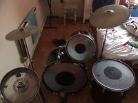 set of 4 drums plus 2 sets of cymbals. Very well used