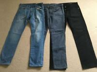3 pairs of men jeans. All £15