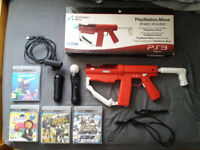 Playstation Move Bundle with Sharp shooter + Games