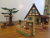 Playmobil Forest Lodge with extras