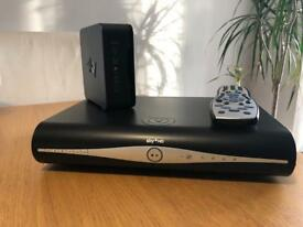 Skyplus HD box and WiFi router