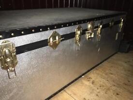 Huge old trunk storage box