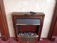Coal Effect Electric Fire With Remote Control