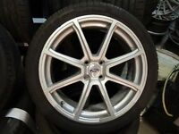 "FORD 18"" 4stud (4x108) ALLOYS JUST BEEN REFURBISHED GUD TYRES NO CRACKS BUCKLES MINT COND £275ono"
