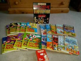 40 Horrible histories / geography/ science books plus playing cards