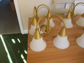 Light fittings four side lights and one centre light very good condition