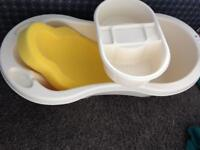 Baby bath, Top and Tail and sponge seat