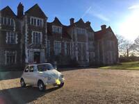 Classic car *FIAT 500* for wedding hire