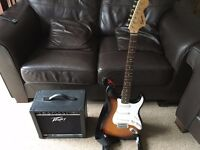 Fender Squier Affinity Strat and Peavey 158 rage amp