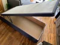 Single ottoman bed with mattress
