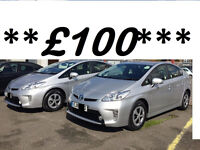 PCO...HIRE...PCO...CAR--RENTAL--PRIUS HIRE****WITH REVERSE CAMERA AND GPS****