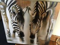 Large canvas picture for sale - zebra print