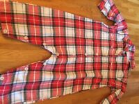 The little white company outfit red tartan 6-9 months as new
