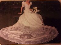 Ivory wedding dress size 8-12