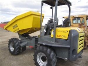 2012 Wacker Neuson 6001S SWIVEL DUMPER