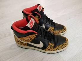 NIKE Leopard Print Safari Hi Top Trainers UK4