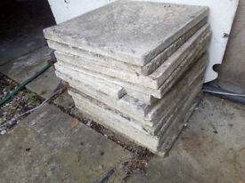 FREE 14 CONCRETE FLAGS 18 inches square