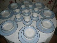 Royal Doulton Blue and White 40 Piece dinner Set