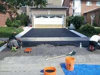 Cover Concrete, Asphalt, Interlock, Wood with Stone and Rubber