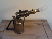 Brass painters blow lamp 240v