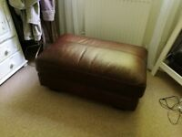 Leather type foot stool