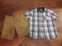Boys age 8 Next shorts and linen shirt