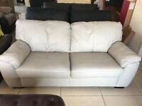New Designer Grey 100 % Leather 3 Seater Sofa