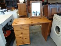 Solid Pine Dressing Table & Mirror