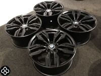 "BRAND NEW 19"" BMW STYLE ALLOY WHEELS - 5 X 120 - MATTE BLACK - Wheel Smart"