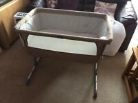 Chicco Next 2 Me Bedside Cot in Dove grey