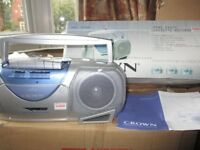 CROWN Mono Radio Cassette Recorder/Player - Model CMC800