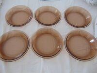 6 Genuine Pyrex bowls for sale.
