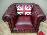 Stunning Leather Oxblood Chesterfield Club Chair