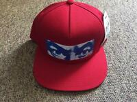 Obey watcher SnapBack hat red