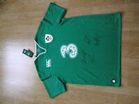Signed Canterbury Men's Ireland 2016 Pro Short Sleeve Rugby Jersey.