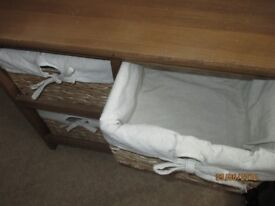 shoe bench with storage