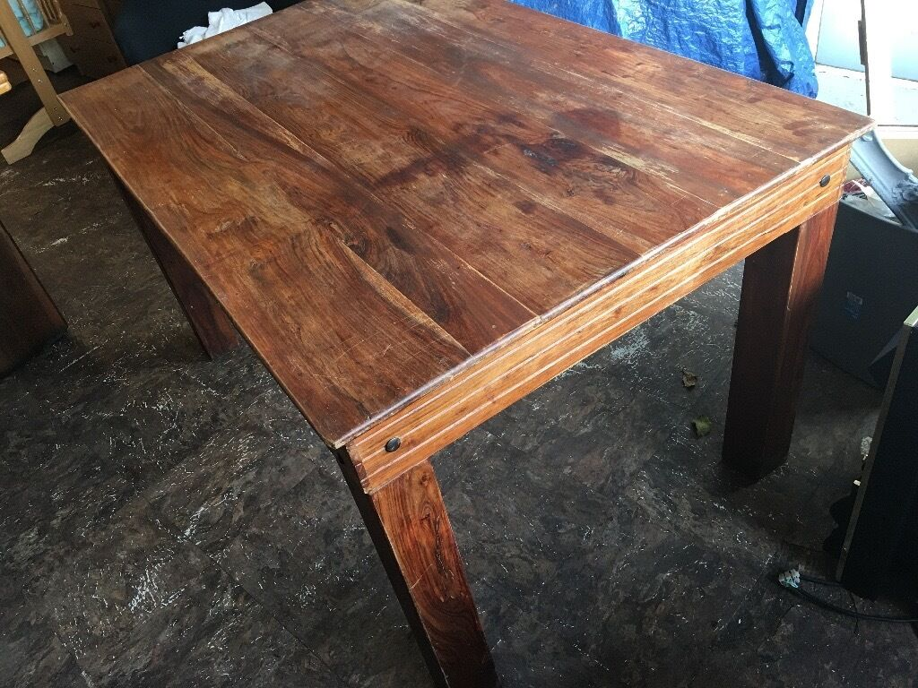 REAL OAK DINNING TABLE PRE-Owned NICE SHABBY CHIC