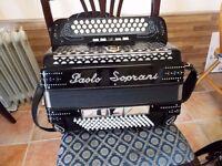 a 3 row BC C Sharp n good condition accordion